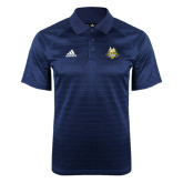 Adidas Climalite Navy Jaquard Select Polo-The Human Jukebox Official Mark