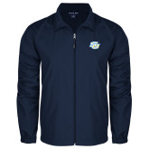 Full Zip Navy Wind Jacket-Interlocking SU