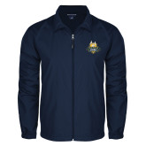 Full Zip Navy Wind Jacket-The Human Jukebox Official Mark