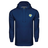 Under Armour Navy Performance Sweats Team Hoodie-Jaguar Head