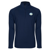 Sport Wick Stretch Navy 1/2 Zip Pullover-Interlocking SU