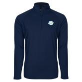 Sport Wick Stretch Navy 1/2 Zip Pullover-Interlocking SU