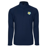 Sport Wick Stretch Navy 1/2 Zip Pullover-Jaguar Head