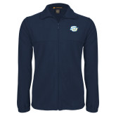 Fleece Full Zip Navy Jacket-Interlocking SU