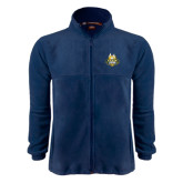 Fleece Full Zip Navy Jacket-The Human Jukebox Official Mark