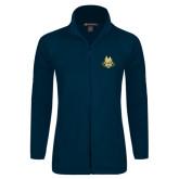 Ladies Fleece Full Zip Navy Jacket-The Human Jukebox Official Mark