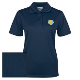 Ladies Navy Dry Mesh Polo-Jaguar Head