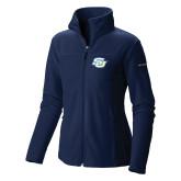 Columbia Ladies Full Zip Navy Fleece Jacket-Interlocking SU