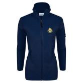 Columbia Ladies Full Zip Navy Fleece Jacket-The Human Jukebox Official Mark