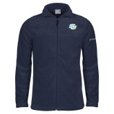 Columbia Full Zip Navy Fleece Jacket-Interlocking SU