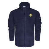 Columbia Full Zip Navy Fleece Jacket-The Human Jukebox Official Mark