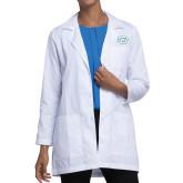 Ladies White Lab Coat-Interlocking SU