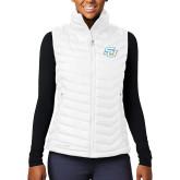 Columbia Mighty LITE Ladies White Vest-Interlocking SU