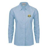 Ladies Light Blue Oxford Shirt-The Human Jukebox Official Mark