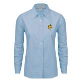 Ladies Light Blue Oxford Shirt-Fabulous Dancing Dolls Official Mark