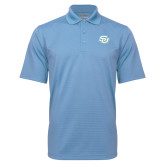 Light Blue Mini Stripe Polo-Interlocking SU