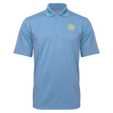 Light Blue Mini Stripe Polo-Jaguar Head