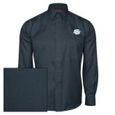 Red House Deep Blue Herringbone Long Sleeve Shirt-Interlocking SU