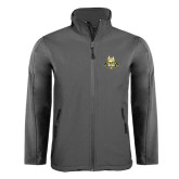 Charcoal Softshell Jacket-The Human Jukebox Official Mark