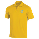 Under Armour Gold Performance Polo-Jaguar Head