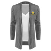 Ladies Heather Grey Open Front Cardigan-The Human Jukebox Official Mark