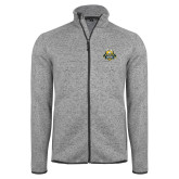 Grey Heather Fleece Jacket-The Human Jukebox Official Mark
