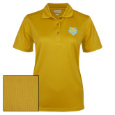 Ladies Gold Dry Mesh Polo-Jaguar Head