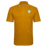 Gold Textured Saddle Shoulder Polo-SU w/ Jaguar