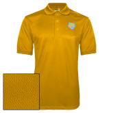 Gold Dry Mesh Polo-Jaguar Head