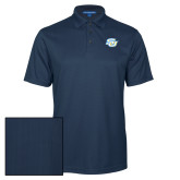 Navy Performance Fine Jacquard Polo-Interlocking SU