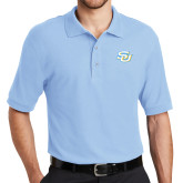 Light Blue Easycare Pique Polo-Interlocking SU