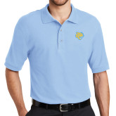Light Blue Easycare Pique Polo-Jaguar Head