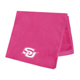 Pink Beach Towel-Interlocking SU
