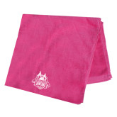 Pink Beach Towel-The Human Jukebox Official Mark