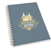 Clear 7 x 10 Spiral Journal Notebook-The Human Jukebox Official Mark