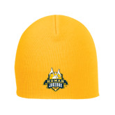 Gold Knit Beanie-The Human Jukebox Official Mark