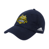 Adidas Navy Slouch Unstructured Low Profile Hat-The Human Jukebox Official Mark