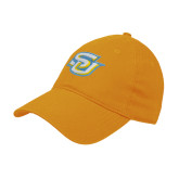 Gold Twill Unstructured Low Profile Hat-Interlocking SU