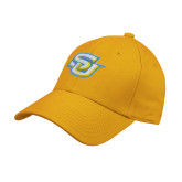 Gold Heavyweight Twill Pro Style Hat-Interlocking SU