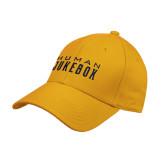 Gold Heavyweight Twill Pro Style Hat-Human Jukebox Wordmark