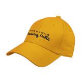 Gold Heavyweight Twill Pro Style Hat-Fabulous Dancing Dolls Wordmark
