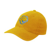 Gold Flexfit Mid Profile Hat-Jaguar Head
