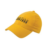 Gold Flexfit Mid Profile Hat-Human Jukebox Wordmark