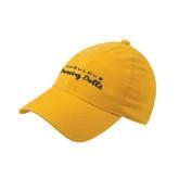 Gold OttoFlex Unstructured Low Profile Hat-Fabulous Dancing Dolls Wordmark