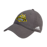 Adidas Charcoal Slouch Unstructured Low Profile Hat-The Human Jukebox Official Mark