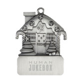 Pewter House Ornament-Human Jukebox Wordmark Engraved