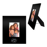 Black Metal 5 x 7 Photo Frame-Interlocking SU Engraved