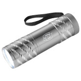 Astro Silver Flashlight-Interlocking SU Engraved