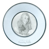 Silver Two Tone Big Round Photo Frame-Fabulous Dancing Dolls Wordmark Engraved