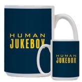 Full Color White Mug 15oz-Human Jukebox Wordmark